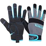 HANDLANDY Work Gloves Men & Women, Utility Mechanic Working Gloves Touch Screen, Flexible Breathable Yard Work Gloves…