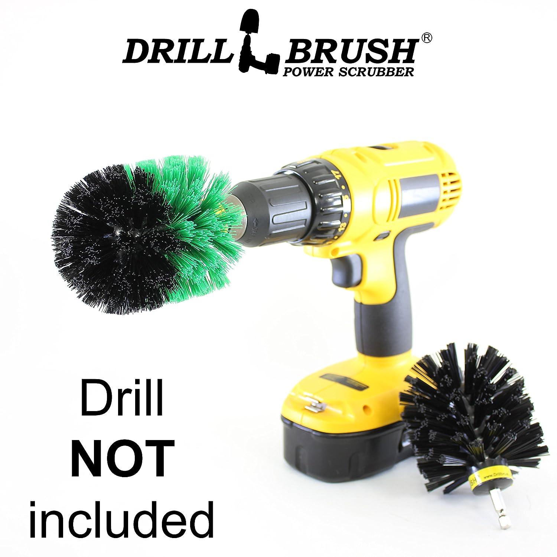 Drillbrush 屋内と屋外の電力スクラブブラシキットにはミディアムと超スティッフで元の2個のESが含まれています B01H5YWH18