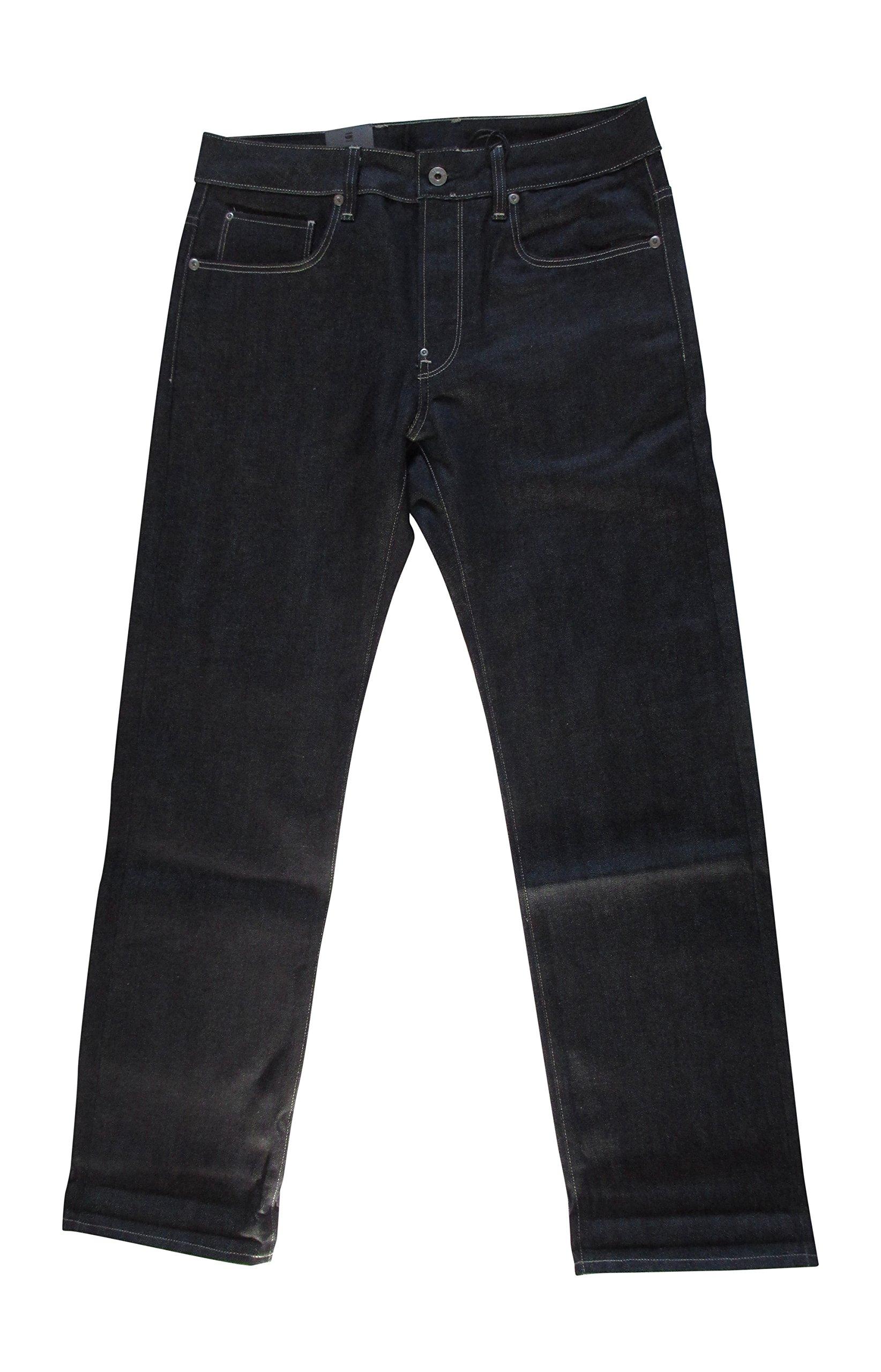 G-star Raw mens ATTACC straight mens jeans 51008 pants (waist 33 leg 30, RL selve denim rigid raw 7547.3253)