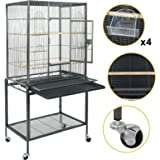 """Super Deal 53""""/61""""/68"""" Large Bird Cage Play Top Parrot Chinchilla Cage Macaw Cockatiel Cockatoo Pet House, 53 inch"""