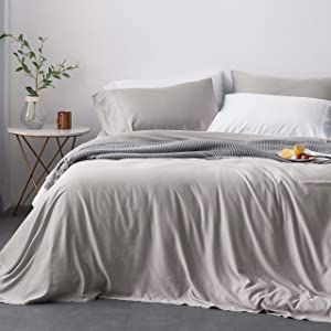 Oasis Fine Linens Island Bamboo Collection (Queen, Mist)