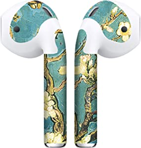 APSkins 2 Piece Printed Skin Wraps Compatible with Apple Airpods – Earpods Stickers & Vinyl Protective Decal for Protection & Customization - Apple Airpods Accessories (Flower Trees)