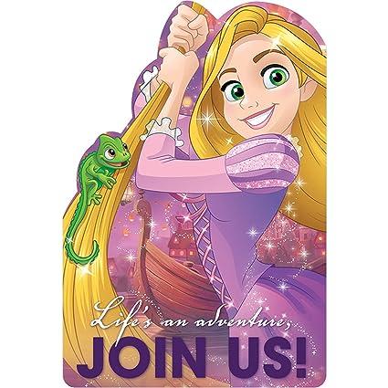 Amazon Com Disney Rapunzel Dream Big Invitation 8ct Contains 4
