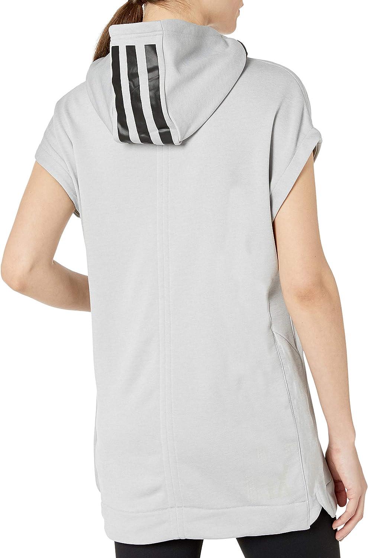adidas Women's Basketball Short Sleeve Hooded Top Grey