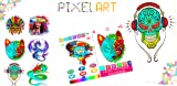 Tattoo Color by Number Adult Pixel Art coloring