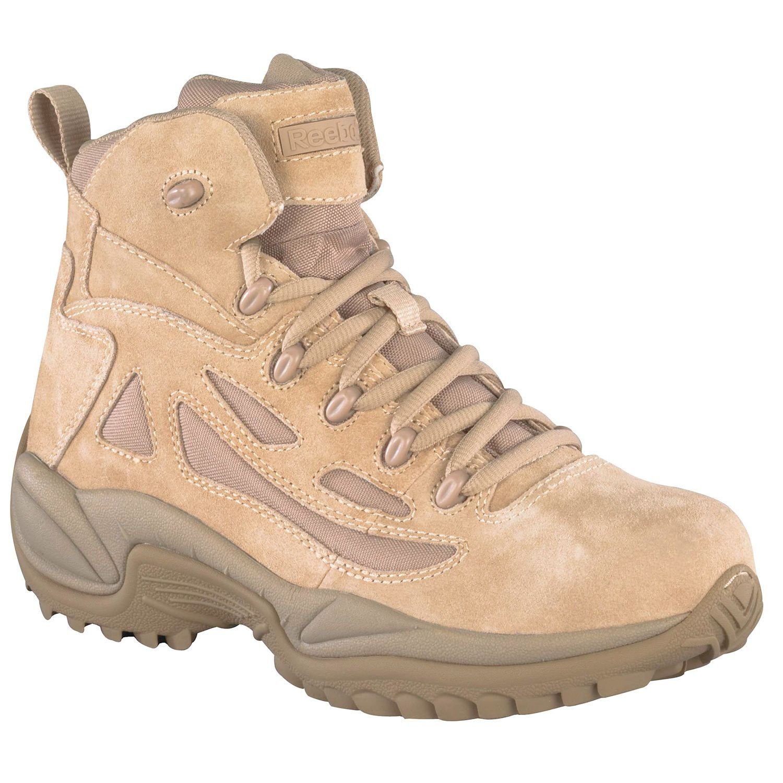 Reebok Work Men's Rapid Response RB8695 Safety Boot,Tan,12 W US