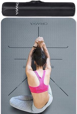 Amazon.com: YAWHO - Esterilla de yoga, material respetuoso ...