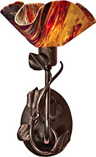 product image for Jezebel Signature BRSC-BBH-MA-LP12-BEG Lily Style Brown with Brown Highlights Branch Sconce with Magnolia Leaves, Begonia