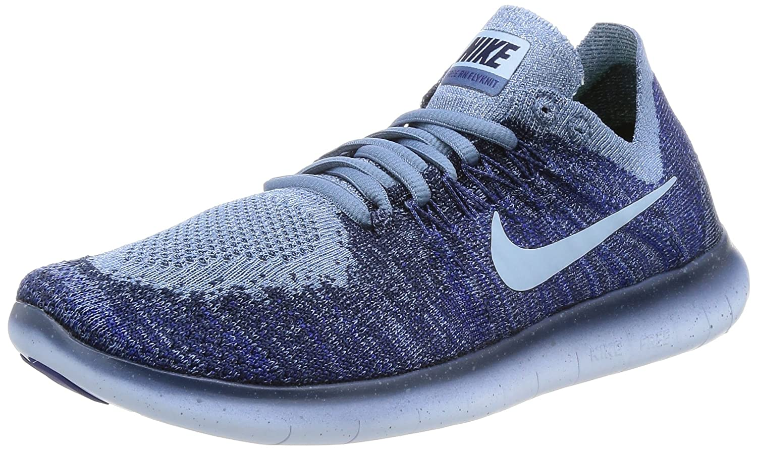 Nike Womens Free RN Flyknit 2017 Running Shoes Ocean Fog Cirrus  Blue College Navy 880844-404 Size 7  Amazon.in  Shoes   Handbags 7568dca0e6