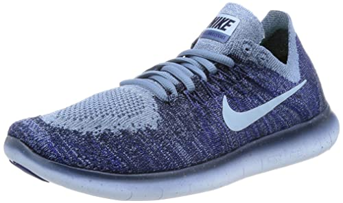 a2b504d917a0b Image Unavailable. Image not available for. Colour  Nike Womens Free RN  Flyknit 2017 Running Shoes Ocean Fog Cirrus Blue College Navy