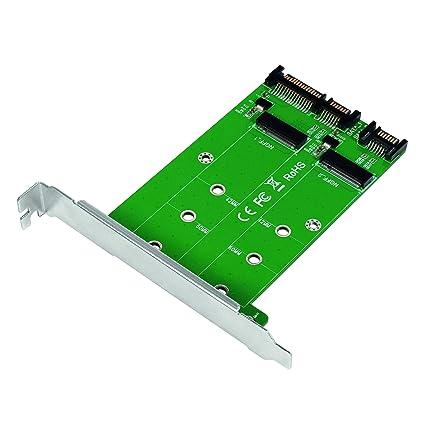 LogiLink PC0086 Dual M.2 - Adaptador de Disco Duro SATA SSD a SATA ...