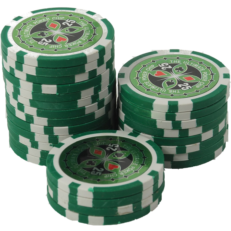 50 Pokerchips 13g Clay Ton Laser Metallkern Ultimate
