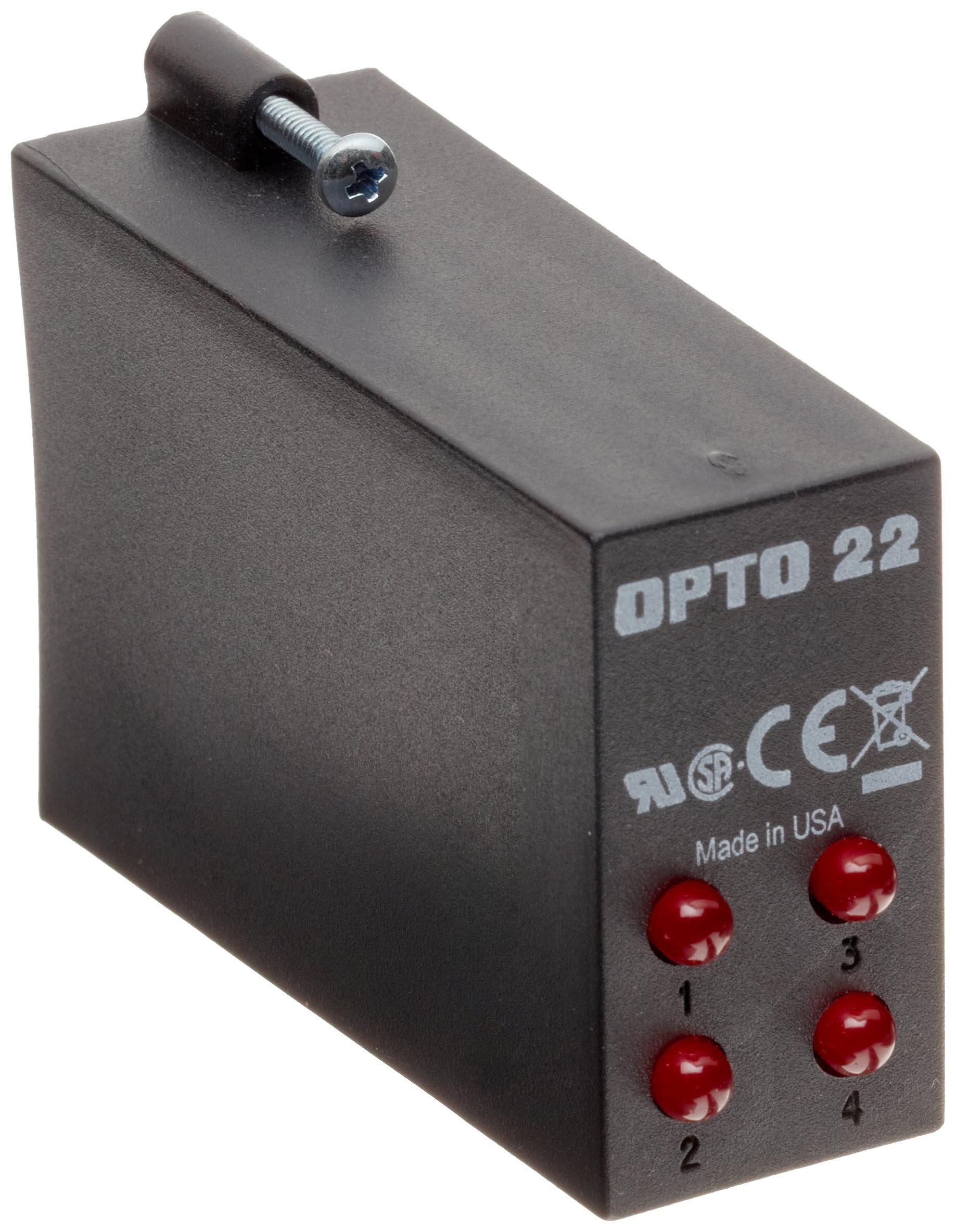 Opto 22 OAC5Q 4-Channel AC Output, 12-280 VAC, 5 VDC Logic, 4000 Vrms I/O Isolation, 20 milliamps Minimum Load Current
