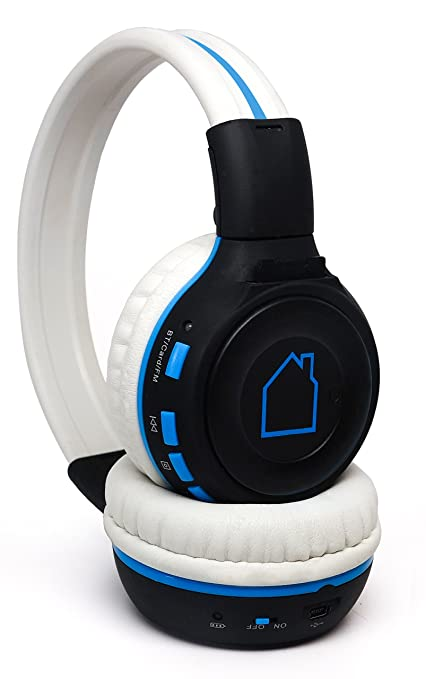 Amazon.com: Azul Cámara MP3 headphones- Wireless Auriculares ...