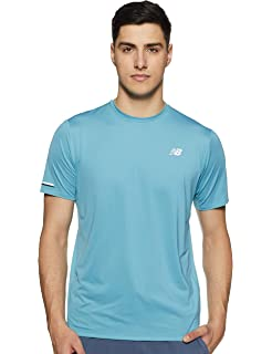 633fc8c9355cb Amazon.com: New Balance Men's Ice Short Sleeve Shirt, Black, Small ...