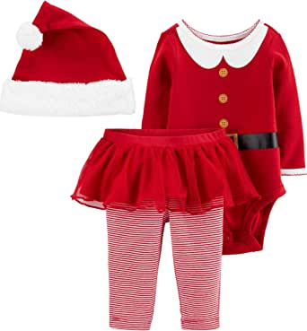 Carter's Baby 3-Piece Christmas Outfit, Shirt, Pants, and Hat Set
