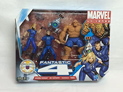 Fantastic Thing with H.E.R.B.I.E by Hasbro Toys Marvel Universe 3 3//4 Inch Action Figure 3Pack Fantastic Four Invisible Woman Mr
