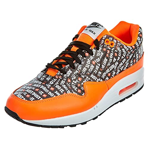 promo code 37a33 d9e94 NIKE Men s Air Max 1 Premium Competition Running Shoes, Multicolour Black Total  Orange