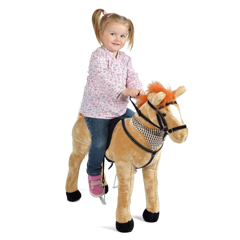 Pink Papaya Plüschpferd XXL 75 cm - Stehpferd Jasper - Fast Lebensgroßes Spielpferd Zum Drauf sitzen bis 100 kg belastbar, mit Verschiedenen Sounds, Spielzeug Pferd Zum Träumen Toys 3S GmbH & Co. KG