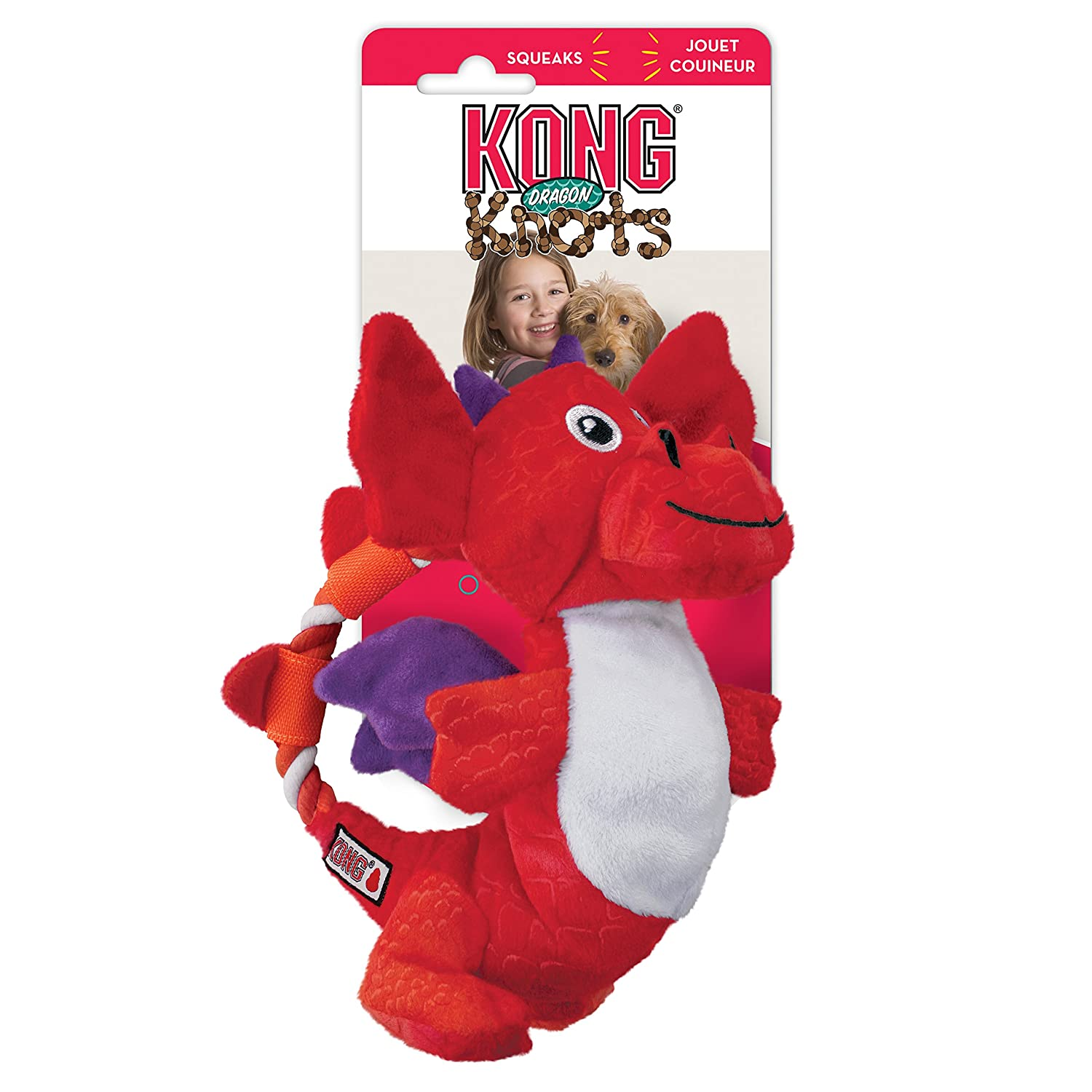 Kong Cordes à nœuds Dragon, M/L, Assortiment de Couleurs NKK21