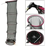 2.1m (6ft 10in) Keep Net & Bank Stick For Match Carp Course Fishing Adjustable Tilt Head Net