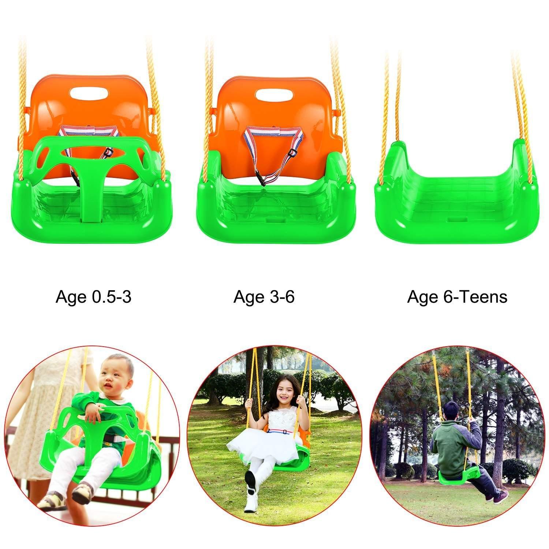 Toddler Swing Seat Baby High Back Full Bucket 3 In 1 Swing Seat