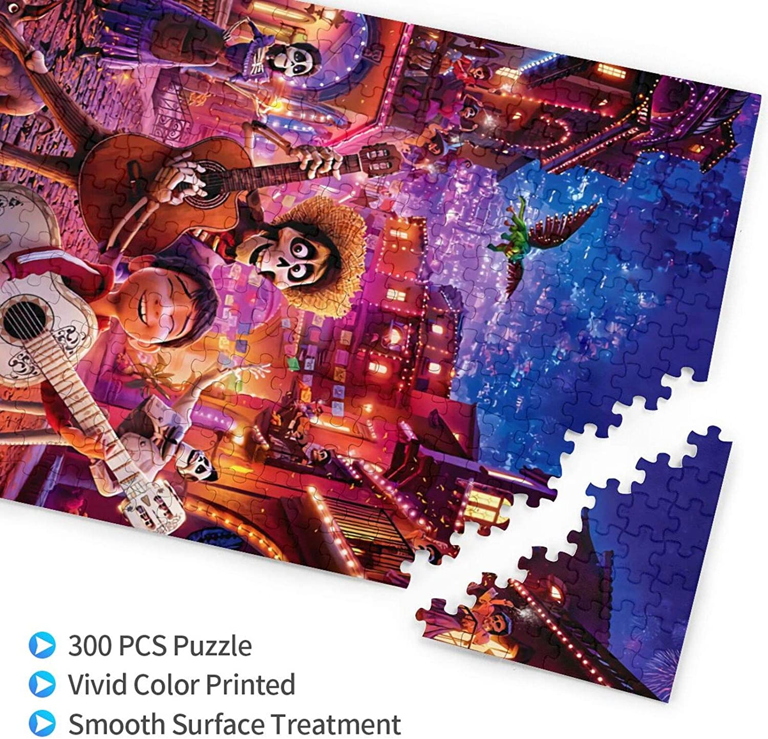 Coco Puzzle 300 Piece for Kids/&Adult Wooden Color Shapes Puzzles Boys /& Girls Educational Toys Gift