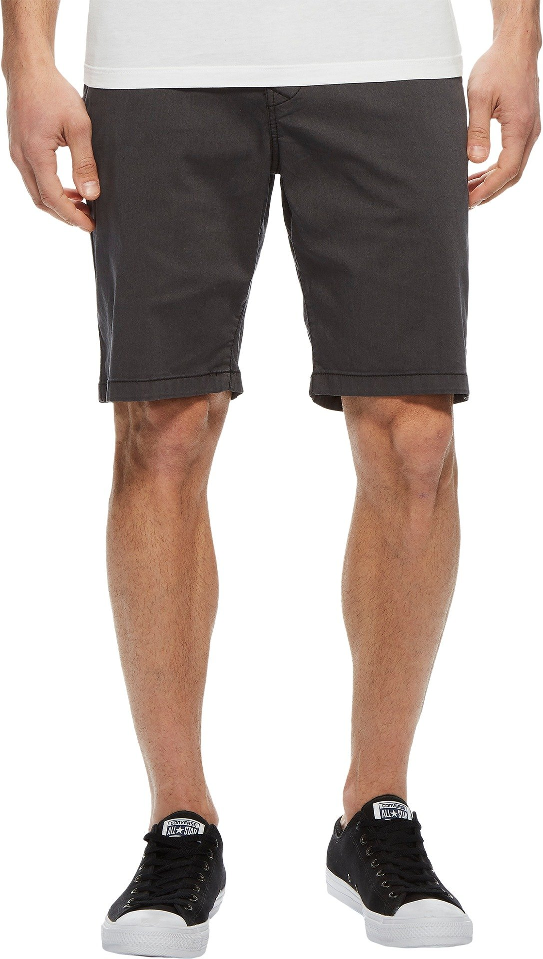 Lucky Brand Men's Stretch Sateen Flat Front Shorts Phantom 38W x 9L