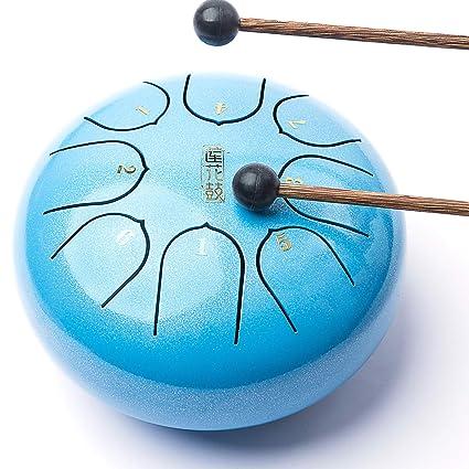 Amazon com: Lronbird Mini Steel Tongue Drum - 8 Notes 6