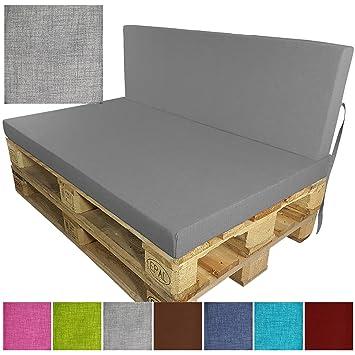 PROHEIM Outdoor Palettenkissen Tino Palettensofa Indoor/Outdoor schmutz- und Wasserabweisende Palettenauflage Palettenpolster