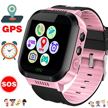 Smart Watch Phone for Kids, GPS Tracker Watch, Waterproof Kids Smartwatch for Girls Boys with Voice Calls Camera SOS Anti-Lost Safety Digital Wrist ...