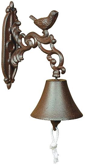 """Esschert Design – Campana para puerta pájaro, de los Materiales """" Hierro Fundido"""