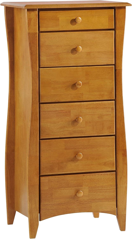 Night & Day Furniture 6 Drawer Clove Lingerie Chest in Medium Oak Finish
