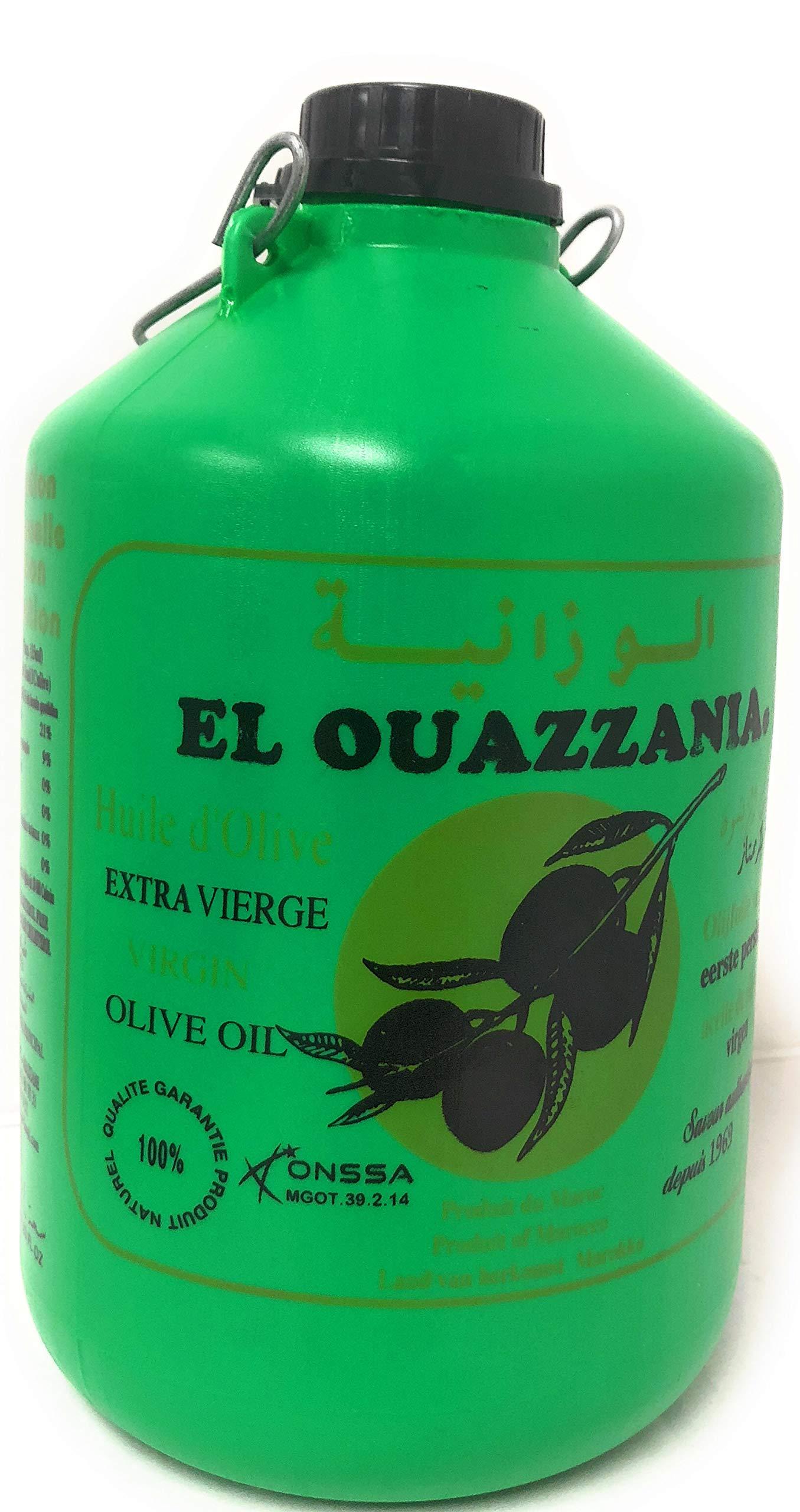 El Ouazzania Moroccan Olive Oil 68 Fl Oz, 2 L (Extra Virgin)