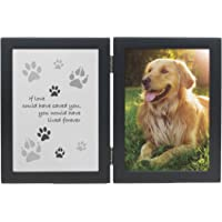MMP Living Pet Memorial Frame - If Love Could Have Saved You - pet Loss Gift - Double Open…
