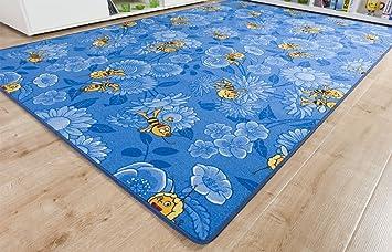 Kinderteppich Biene Maja Blau Nach Mass Spielteppich