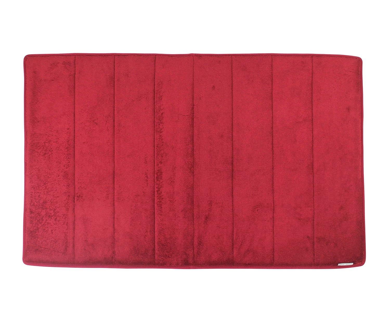 Microdry Memory Foam Luxury Bath Mat 34 Quot X 21 Quot Crimson Red