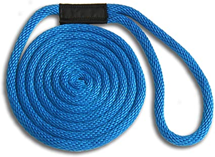 """ANCHOR ROPE DOCK LINE 3//8/"""" X 50/' BRAIDED  ROYAL BLUE MADE IN USA"""