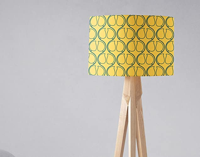 f20c85c75d68 Amazon.com: Yellow and Navy Blue Geometric Lampshade Light Shade ...