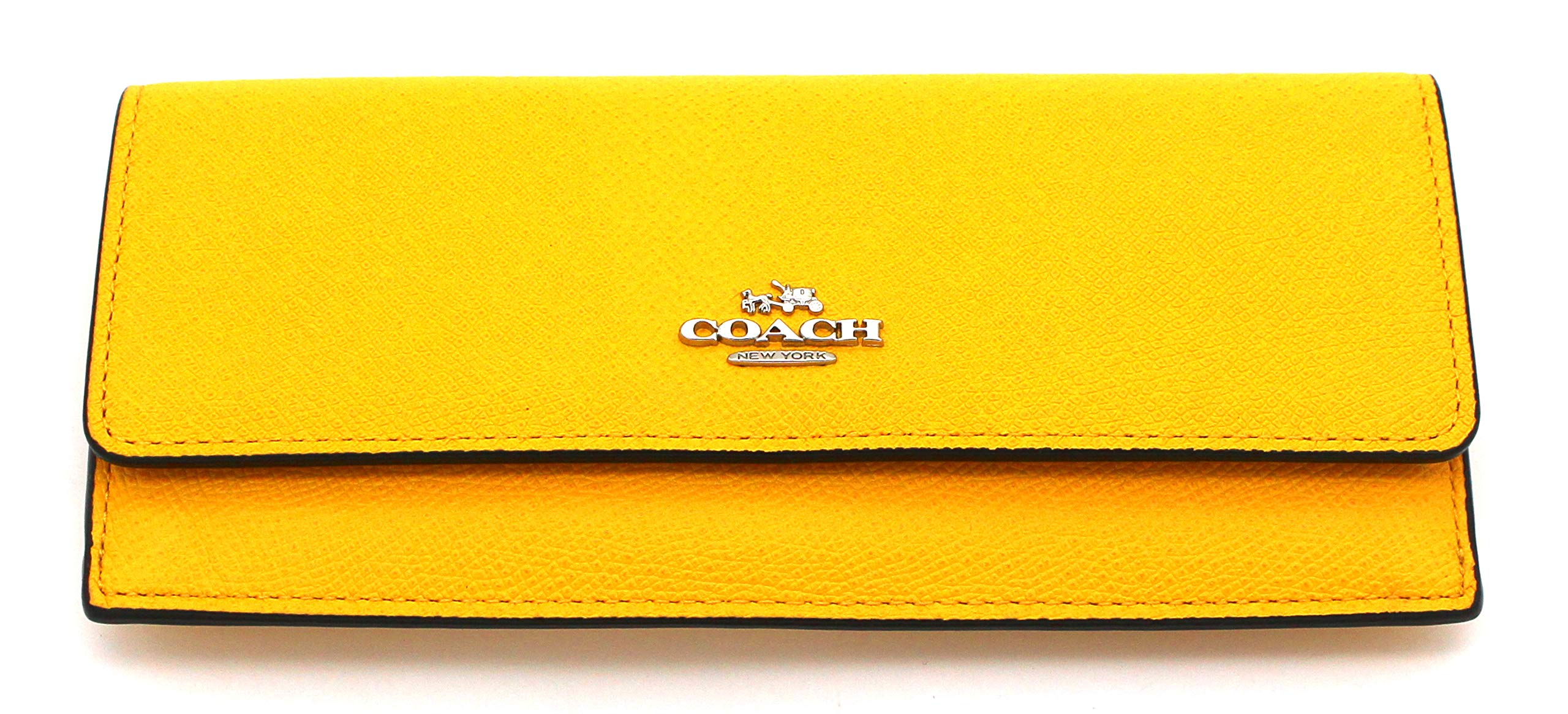 Coach Crossgrain Leather Soft Wallet (Yellow)