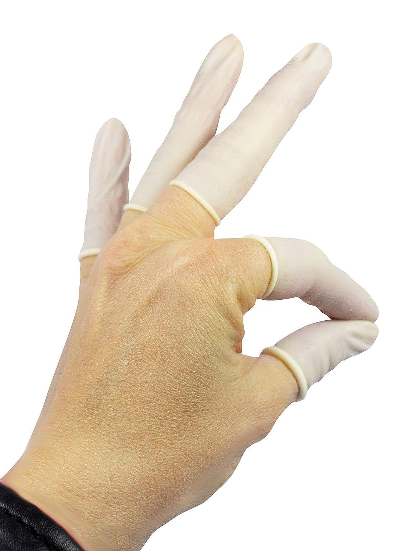 L , 100/unidades Large romed l/átex dedos Linge