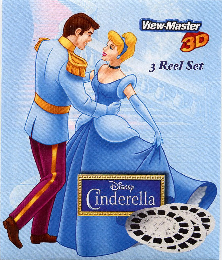 ViewMaster - Disney Princess - Cinderella - 3 reels on Card - New and Unopened