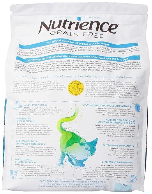 Amazon.com : Nutrience Grain Free Cat Food, 18-Pounds, Ocean Fish : Pet Supplies