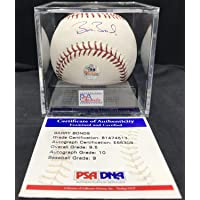 Barry Bonds Autographed Signed Memorabilia OMLB Baseball PSA DNA Authentic Graded Mint 9.5/10 Auto photo