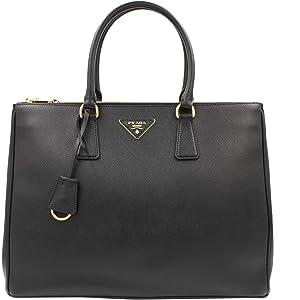 f7a6c73e2a02 Amazon.com: Prada Women's Bibliotheque Bag Calf Leather Back: Clothing