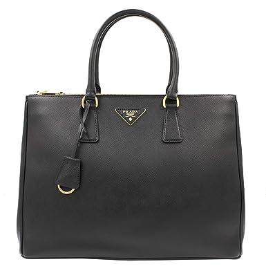c92afcfb48f0 Amazon.com: Prada Saffiano Handbag 1ba786nzvf0002, Black: Clothing