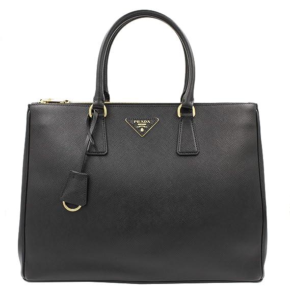 a61c069e3a4 PRADA Saffiano Lux Galleria Black Leather Ladies Tote 1BA786NZV:  Amazon.co.uk: Clothing