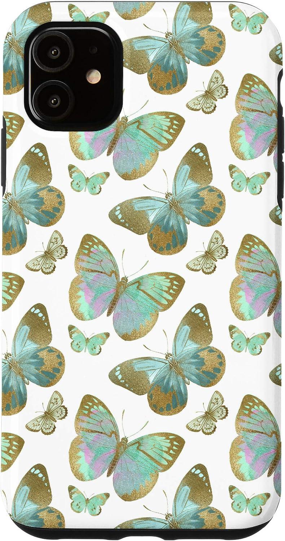 Amazon Com Iphone 11 Green Wallpaper Art Abstract Art Butterfly Aesthetic Case