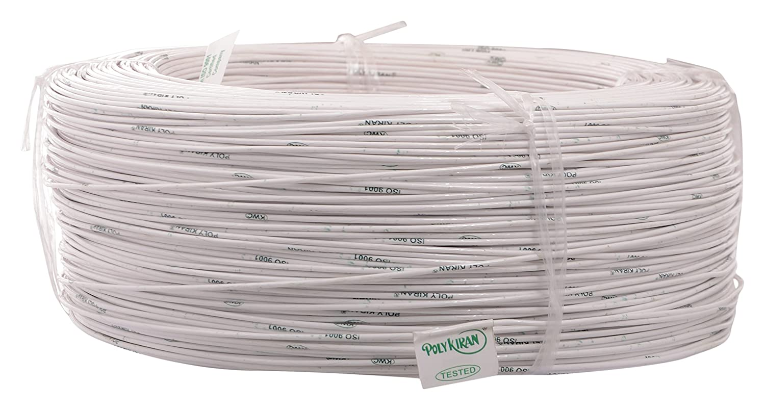 POLY KIRAN Submersible Winding Wire, Copper, 1 mm, White: Amazon.in ...