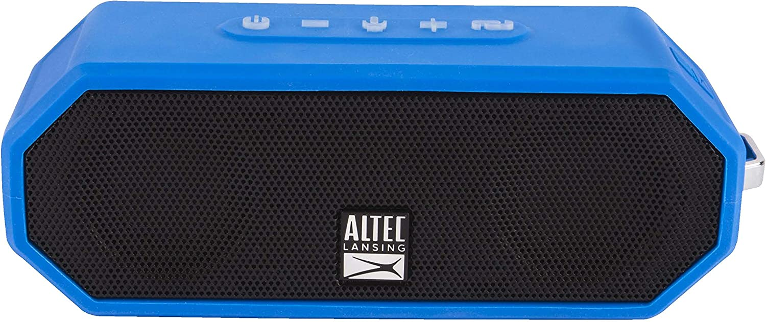 BLK 100FT Wireless Range and Voice Assistant Integration Altec Lansing IMW449 Jacket H2O 4 Rugged Floating Ultra Portable Bluetooth Waterproof Speaker with up to 10 Hours of Battery Life